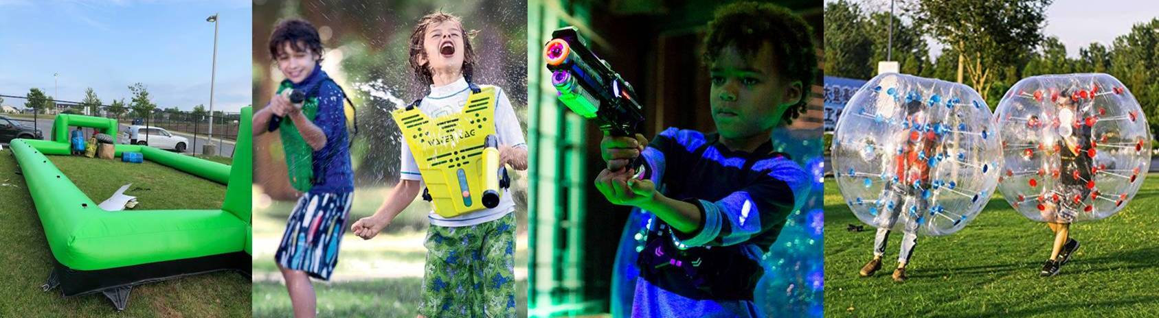 Arena games - laser tag, water tag, bubble soccer for Baltimore and Frederick County birthday parties