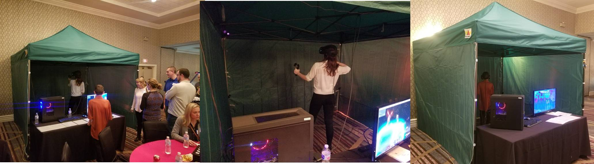 Virtual reality gaming tent at a video game birthday party in Frederick County and Baltimore, Maryland